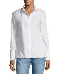Derek Lam Long Sleeve Peplum Shirt White