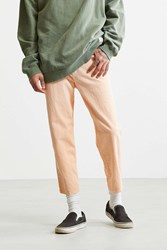 Bdg Melon Acid Wash Straight Cropped Jean Bright Orange