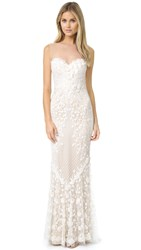 Catherine Deane Ashton Embellished Tulle Gown Vanilla Oyster
