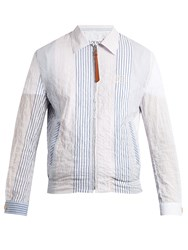 Loewe Striped Cotton Jacket Blue Multi