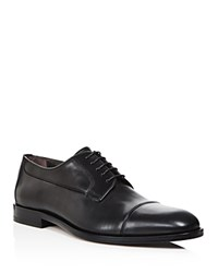 Canali Stock Cap Toe Derby Shoes Black