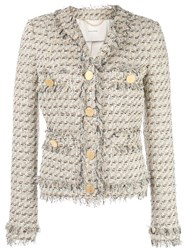 Adam By Adam Lippes Single Breasted Tweed Jacket 60