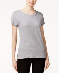 Tommy Hilfiger Holly Embellished T Shirt Only At Macy's Medium Grey Heather