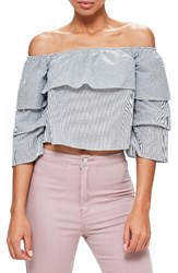 Missguided Women's Bardot Stripe Top