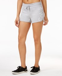 Calvin Klein Performance Terry Logo Shorts Pearl Grey Heather