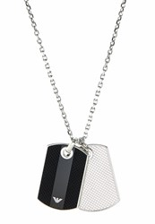 Emporio Armani Signature Necklace Silvercoloured