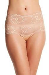 Wacoal Scalloped Sheer Boy Short Beige