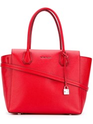 Michael Kors Mercer Tote Women Leather One Size Red