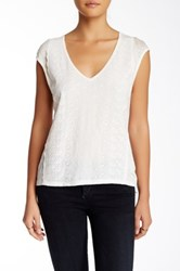 Plenty By Tracy Reese Easy Linen Tee White