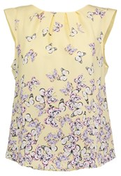 Dorothy Perkins Billie And Blossom Butterfly Blouse Yellow