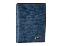 Tumi Monaco Gusseted Card Case With Id Cobalt Credit Card Wallet Blue