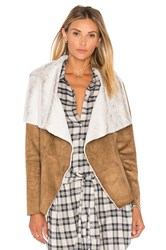 Bb Dakota Bourne Jacket With Faux Fur Lining Brown