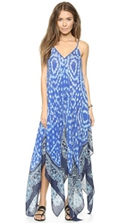 Theodora And Callum Anguilla Scarf Cover Up Dress Blue Multi