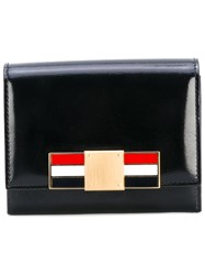 Thom Browne Bow Embroidered Wallet Women Calf Leather One Size Black