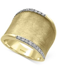 Effy D'oro By Diamond Wide Band 1 4 Ct. T.W. In 14K Gold Yellow Gold