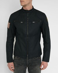 Denim And Supply Ralph Lauren Black Numbers Back Coated Cotton Jacket