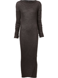 Isabel Benenato Boat Neck Dress Grey