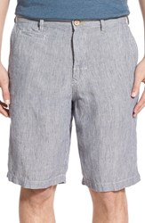 Tommy Bahama Men's 'Line Of The Times' Relaxed Fit Striped Linen Shorts Dockside Blue