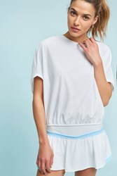 Anthropologie Stealth Jersey Top White