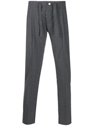Entre Amis Micro Pleats Tailored Trousers Grey