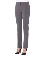 Tahari By Arthur S. Levine Petite Alyssa Classic Fit Straight Dress Pants Heather Grey
