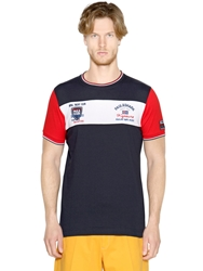 Paul And Shark Embroidered Cotton Jersey T Shirt Multi