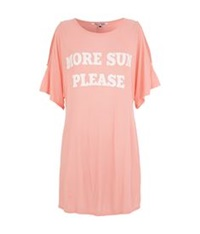 Wildfox Couture More Sun Please Tunic Top Pink