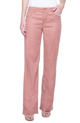 Liverpool Jeans Company Emma Stretch Linen Pants Tuscan Sunset