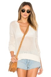 By The Way. Pearl Open Knit Sweater Ivory