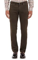 Etro Brushed Five Pocket Jeans Brown