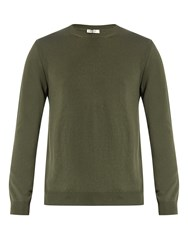 Valentino Crew Neck Cashmere Sweater Green