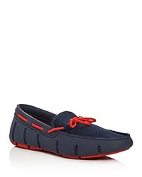 Swims Braided Lace Rubber Loafers Navy