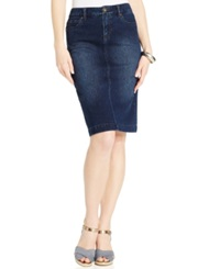 Style And Co. Denim Skirt Punk Blue Wash