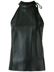Talie Nk Leather Top Black