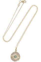Ileana Makri Dawn Candy 18 Karat Gold Multi Stone Necklace