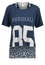 Franklin And Marshall 2In1 Print Tshirt Navy Dark Blue