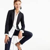 J.Crew Collection Cropped Tuxedo Jacket In Italian Wool
