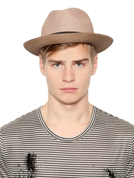 Richmond Straw Hat With Grosgrain Hatband Beige