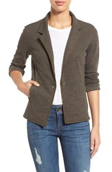 Women's Caslon One Button Knit Blazer Olive Tuscan