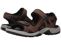 Ecco Yucatan Sandal Espresso Cocoa Brown Black Men's Toe Open Shoes