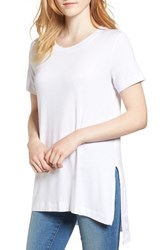 Amour Vert Women's Paola High Low Tee White