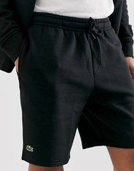 Lacoste Sport Logo Jersey Shorts In Black