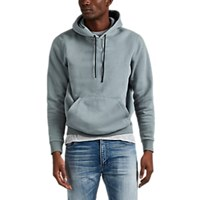 Theory Colorfield Cotton Blend Hoodie Lt. Green