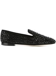 Giuseppe Zanotti Design Embellished Slippers Black