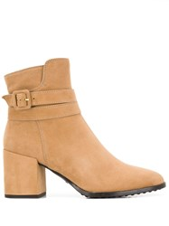 Tod's Buckle Ankle Boots Neutrals