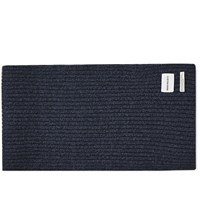 Norse Projects Wide Rib Scarf Blue