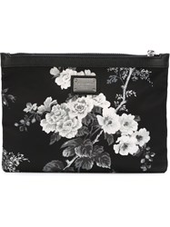 Dolce And Gabbana Floral Print Clutch Black