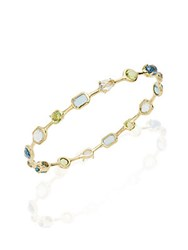 Ippolita Rock Candy Multi Stone And 18K Yellow Gold Bangle Bracelet