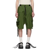 Unravel Green Cargo Shorts