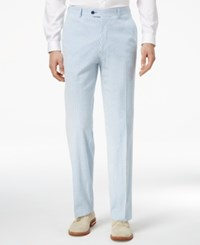 Tommy Hilfiger Men's Slim Fit Stretch Performance Blue White Seersucker Suit Pants Blue And White